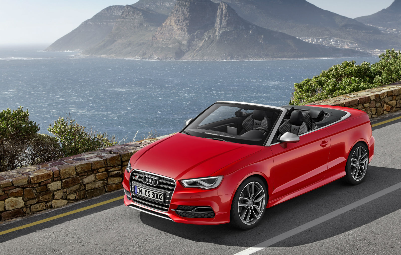 2015 Audi S3 Cabriolet Red Sport Car Wallpaper   HD 1600x1020