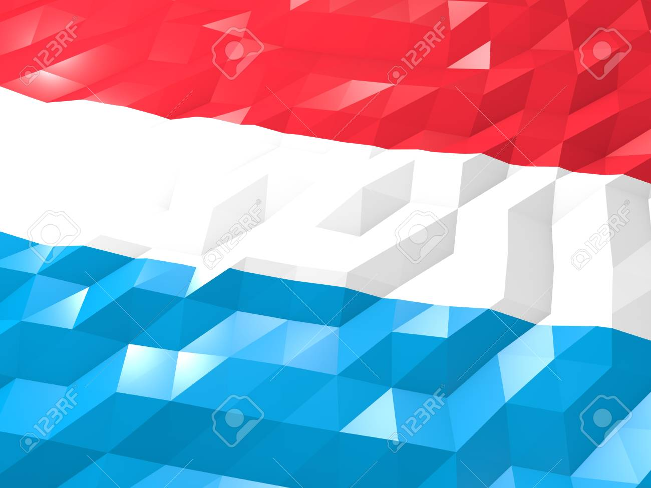 Flag Of Luxembourg 3D Wallpaper Illustration National Symbol 1300x975