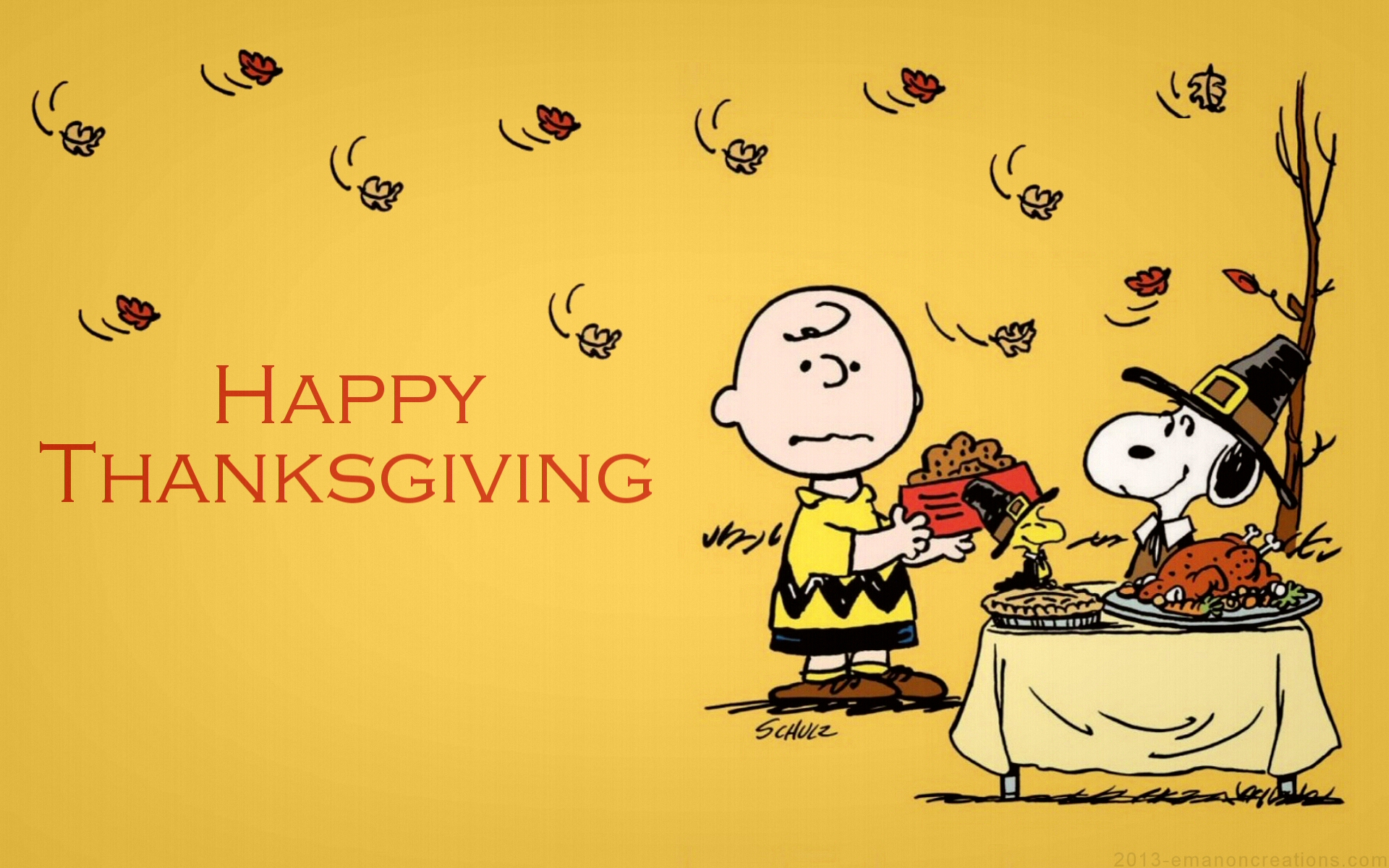 Charlie Brown Thanksgiving Backgrounds 1920x1200