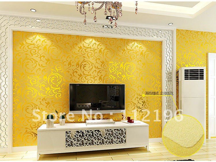 Design Wallpaper Wall Stickers Flocking Wallpaper Wall Sticker Paster .