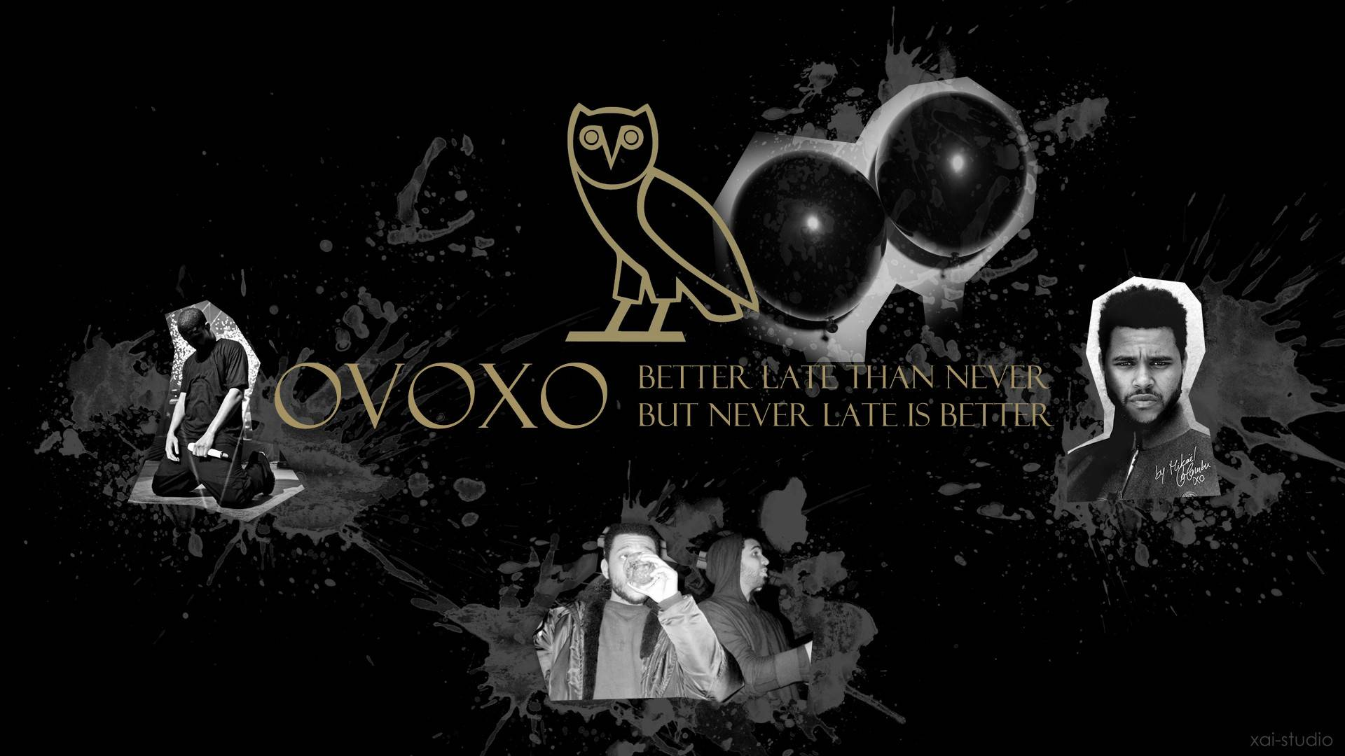 Drake OVOXO The Weeknd Rap Wallpapers 1920x1080