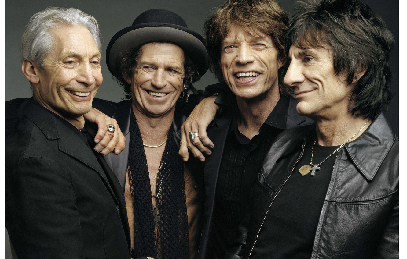 Wallpaper joy smile grey background group The Rolling Stones 1332x850