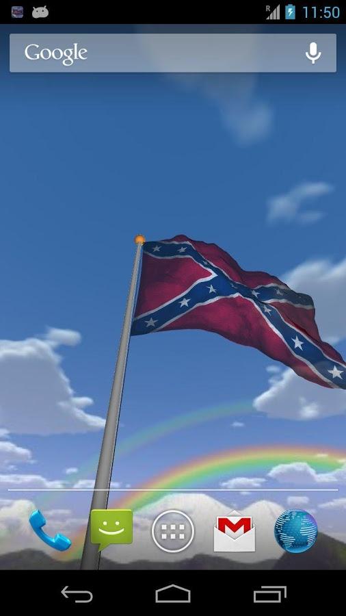 Real Rebel Flag Live Wallpaper   screenshot 506x900