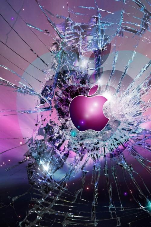 Apple Logo Wallpaper for iPhone 4 02 500x750