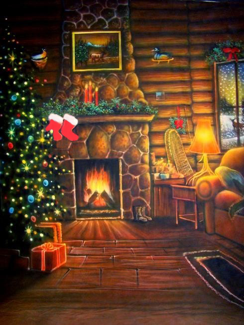 Log Cabin Christmas Wallpaper - WallpaperSafari