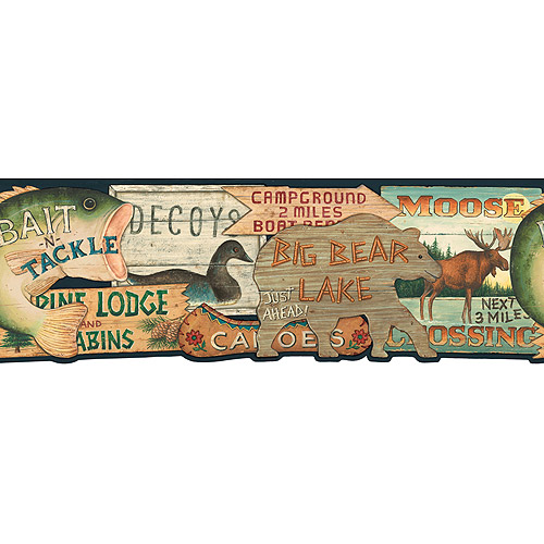 Blue Mountain Lodge Sign Wallpaper Border   Walmartcom 500x500