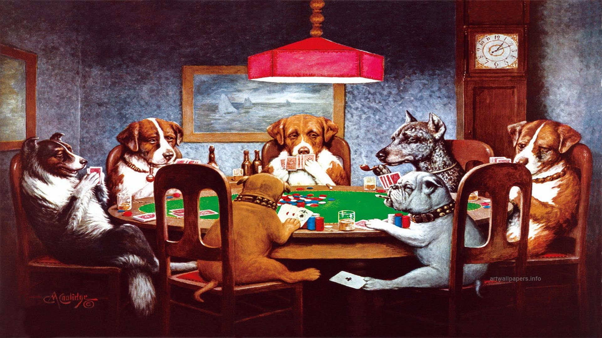 70+ Dogs Playing Poker Wallpaper on WallpaperSafari