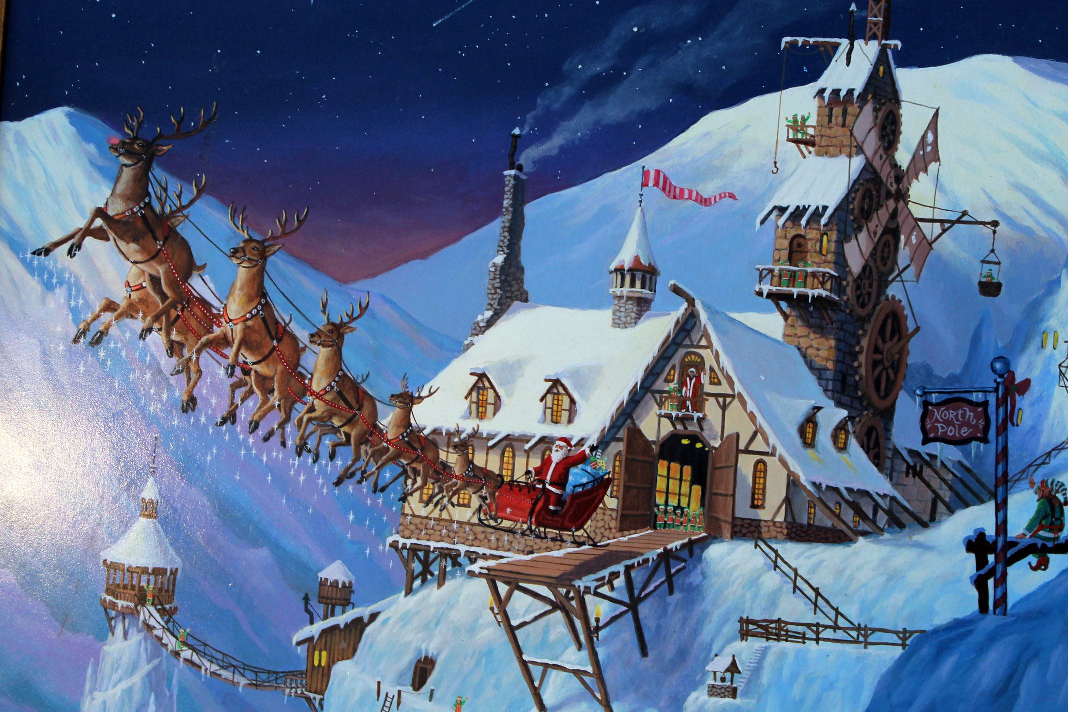 The North Pole Christmas Screensaver Festival Collections 2136x1424