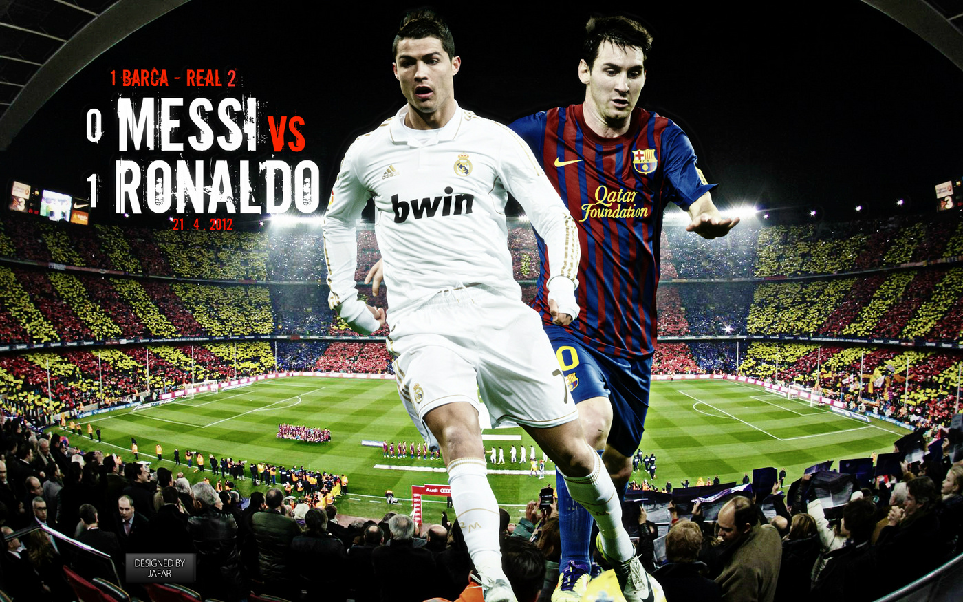 Top Football Wallpapers Messi and Ronaldo Cool Wallpapers 2012 1400x875