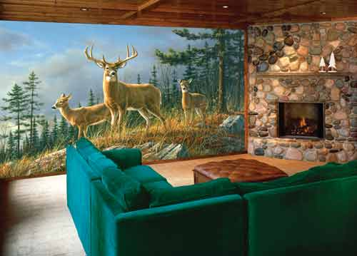 Deer Wall Mural Hunting Wallpaper For Home   Wallpapersafari Part 37