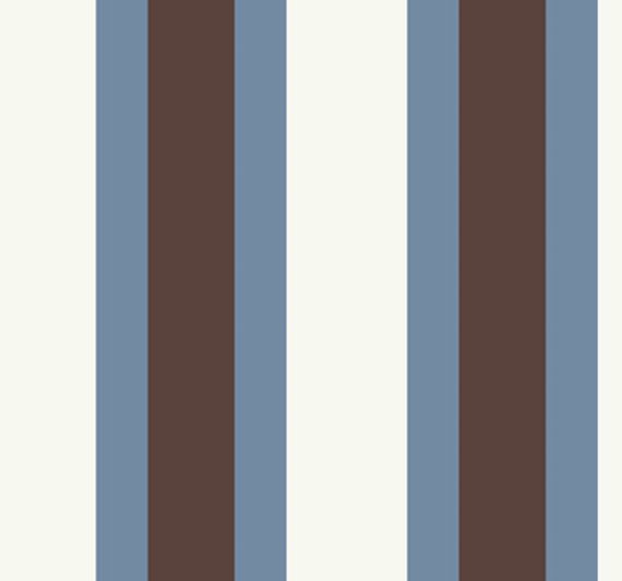 Blue and Brown Triple Treat Stripe Wallpaper   Wall Sticker Outlet 570x532