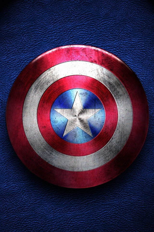 Captain America Shield Of Justice   iPad iPhone HD Wallpaper 640x960