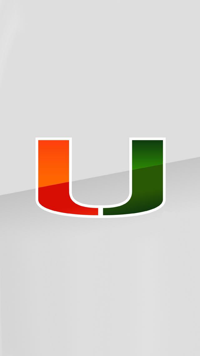 Miami Hurricanes Logo Wallpaper 640x1136