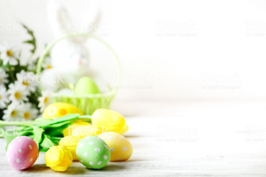 Happy Easter Congratulatory Easter Background Easter Eggs And 1024x682