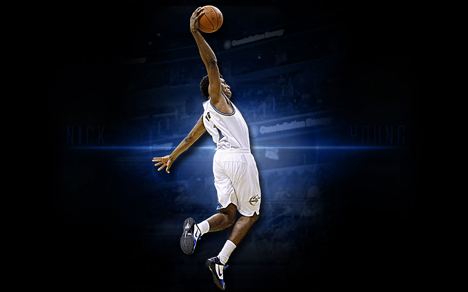 Nick Young Wizards Dunk Widescreen Wallpaper Basketball 1920x1200