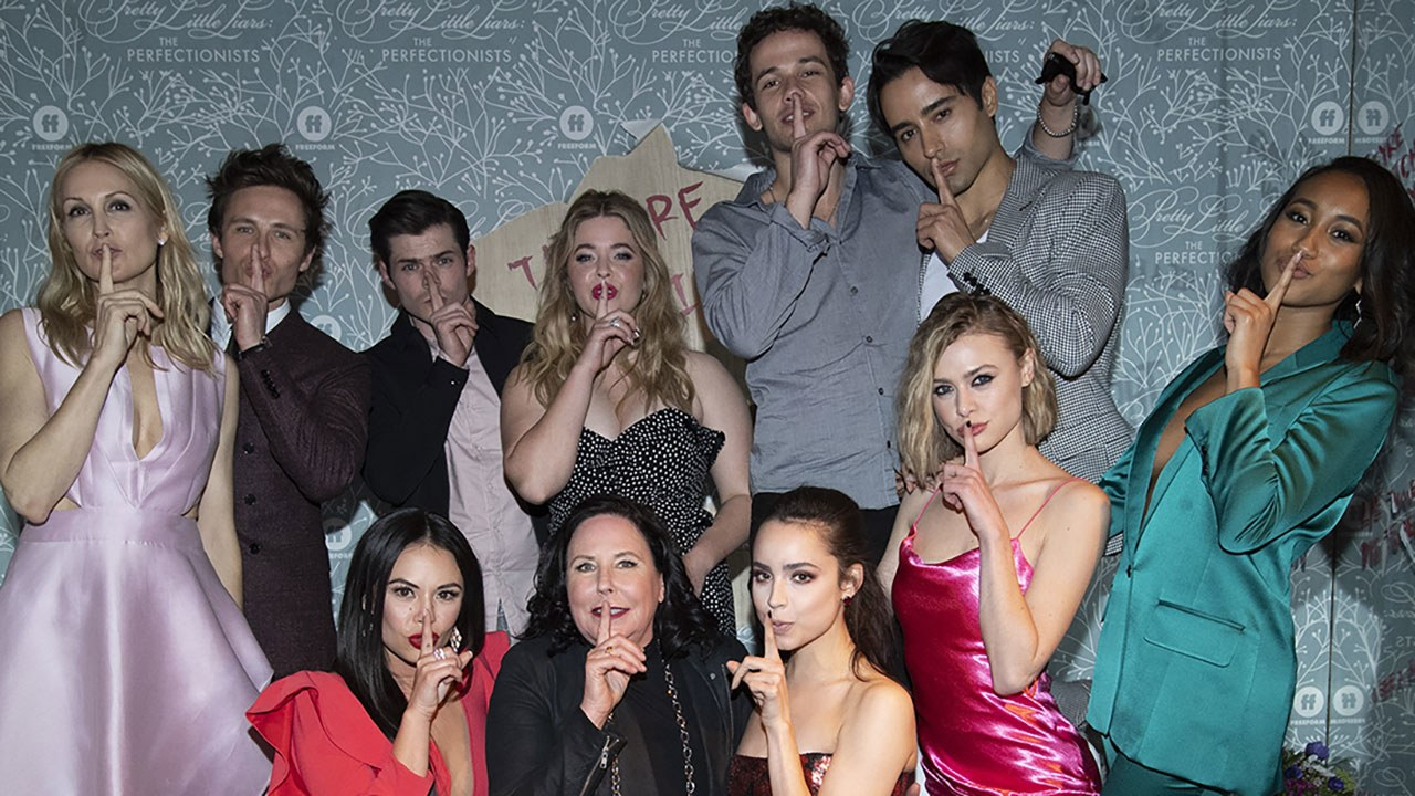 Pretty Little Liars The Perfectionists Stars Celebrate the 1280x720