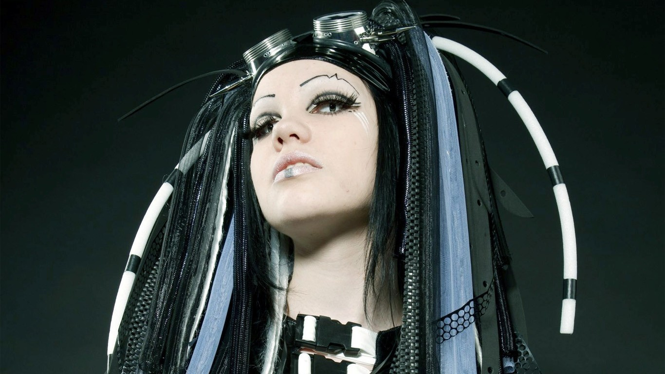 Cybergoth Wallpaper 1366x768 SteampunkCyberpunk Pinterest 1366x768