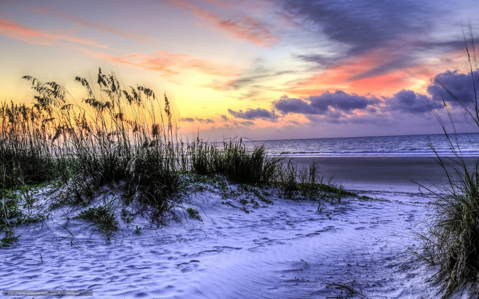 Download wallpaper Hilton Head Island South Carolina Atlantic Ocean 1600x1001