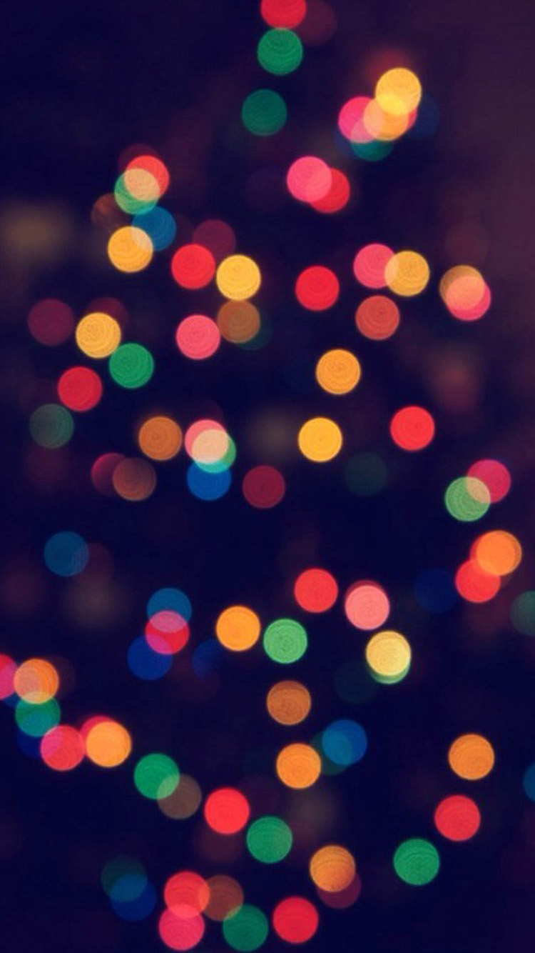 Christmas Tree Bokeh iPhone 6 Wallpapers iPhone 6 Wallpapers 750x1334