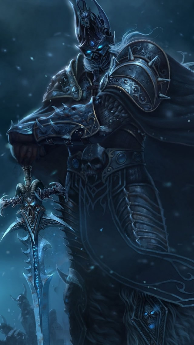 Wow Lich King iPhone 5s Wallpaper Download iPhone Wallpapers iPad 640x1136