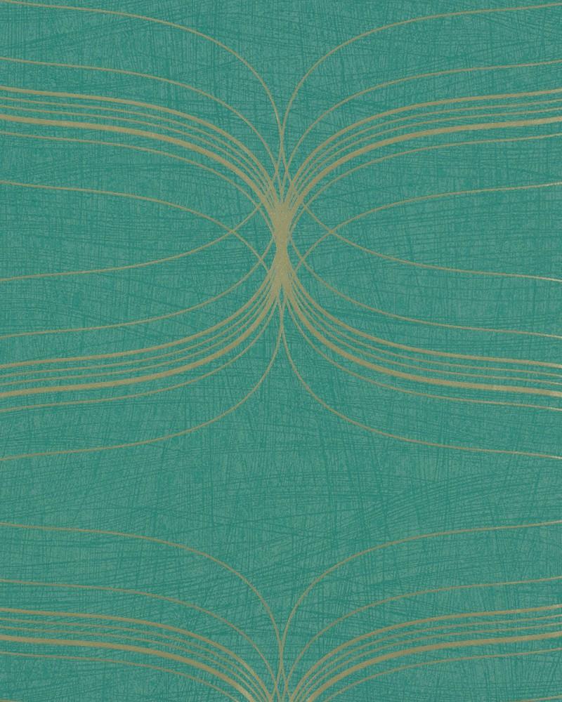 wallpaper 53154 retro turquoise silver Wallpaper Marburg La Veneziana 800x1000