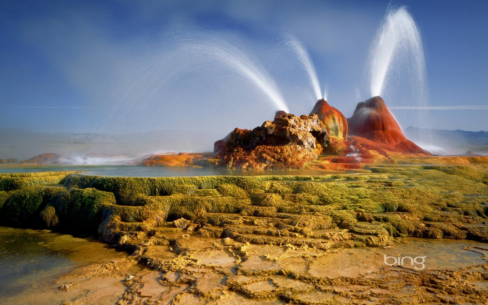 Bing yellowstone national park geysers nature wallpaper 82908 1680x1050
