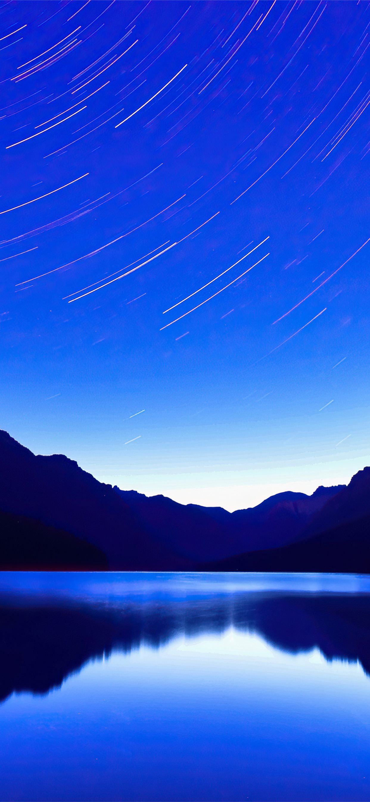 blue lake star trails 4k iPhone 11 Wallpapers Download