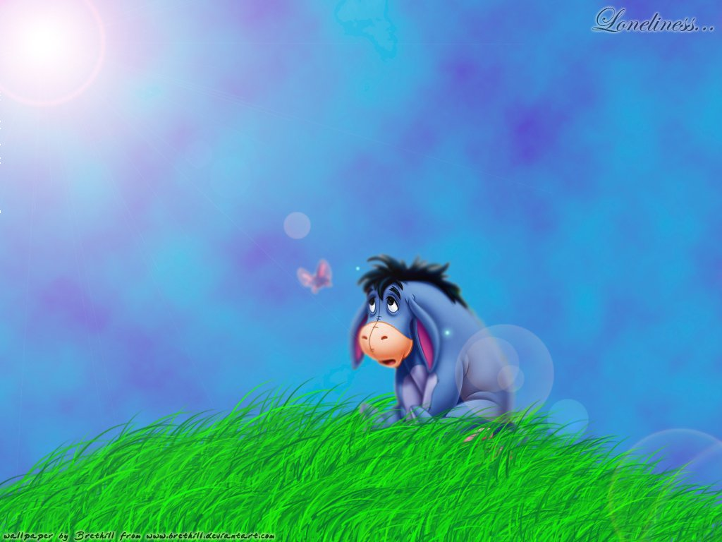 Happy Eeyore Wallpaper