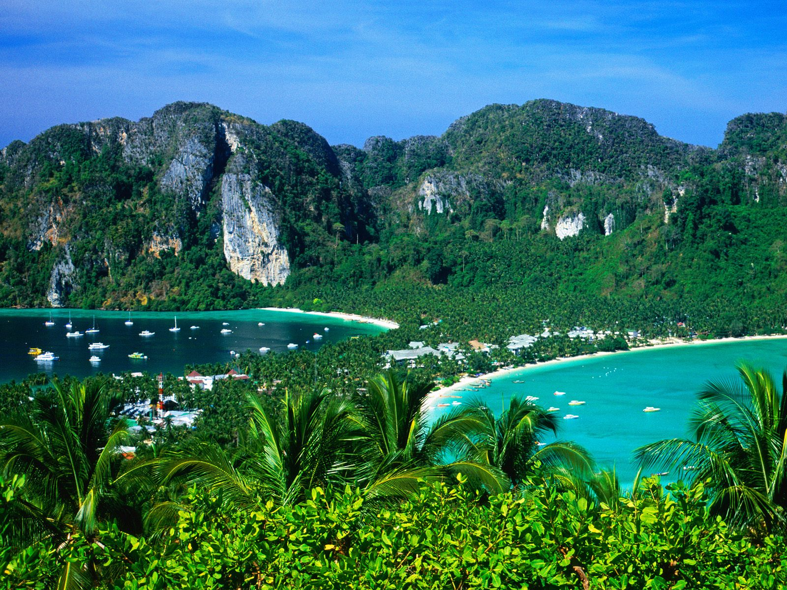 Hilly Areas Of The World Phi Phi Beach Thailand 1600x1200