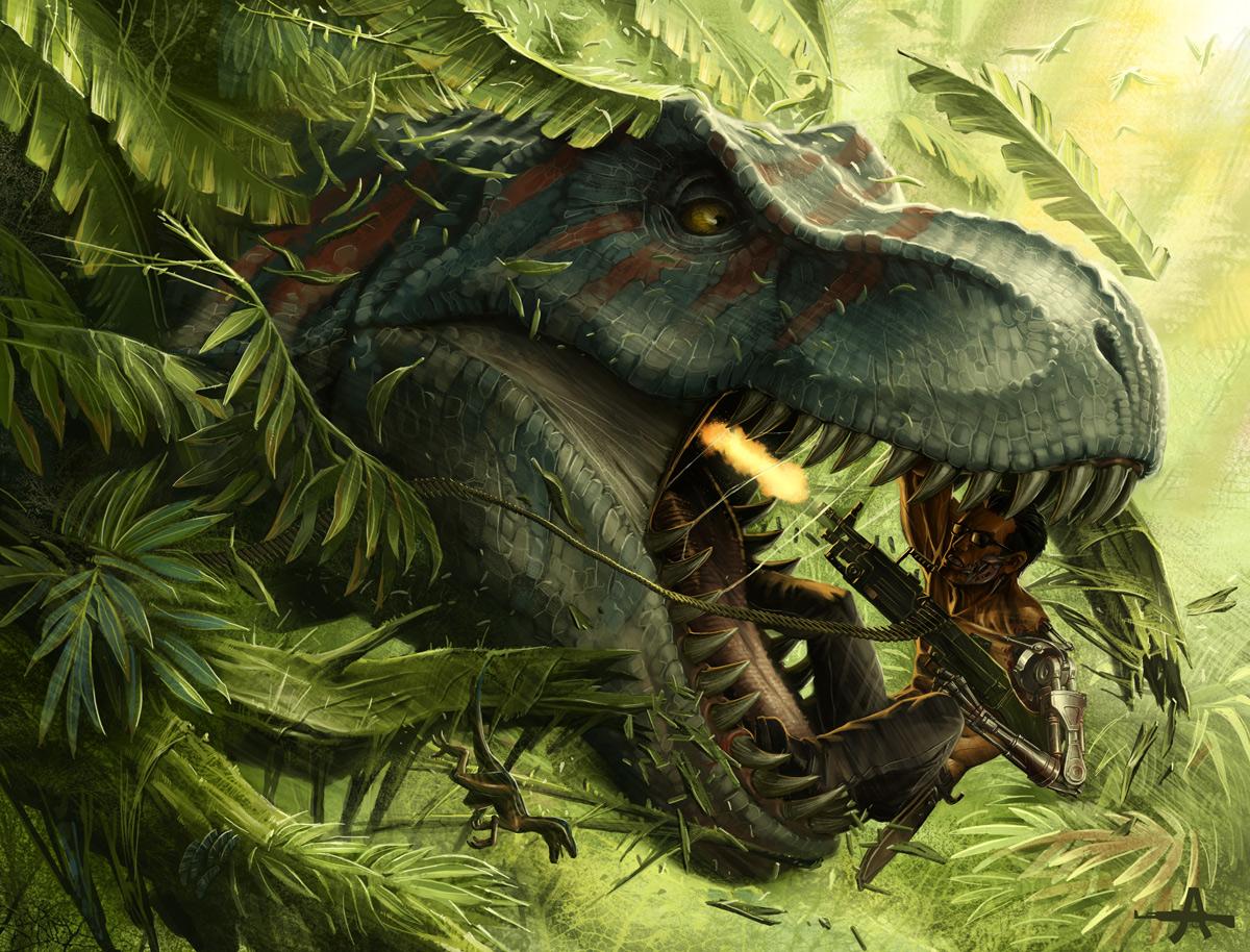 800 vs t rex by ameeeeba 1200x914