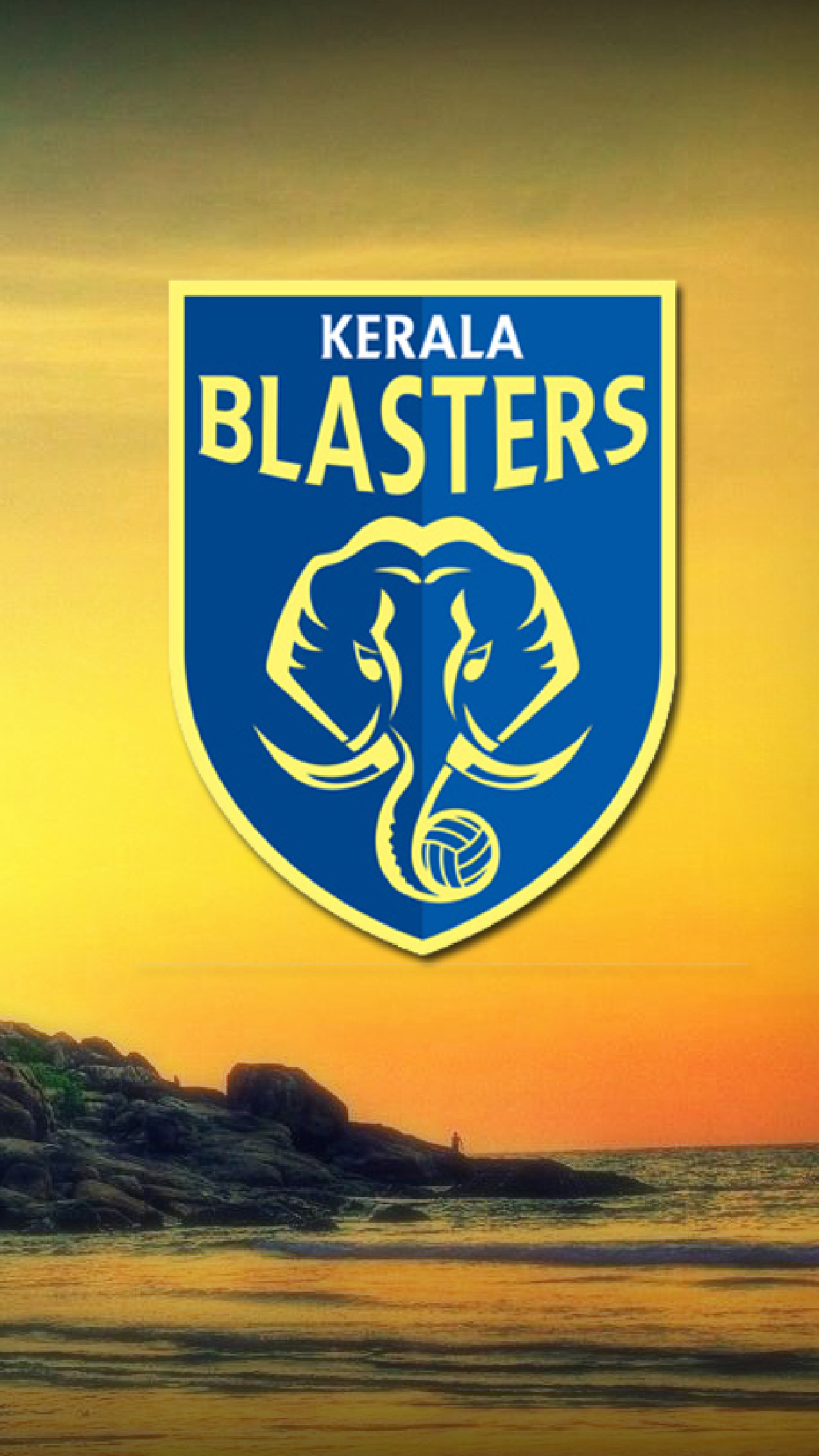 Kerala Blasters   Download HD Mobile Wallpapers 2160x3840