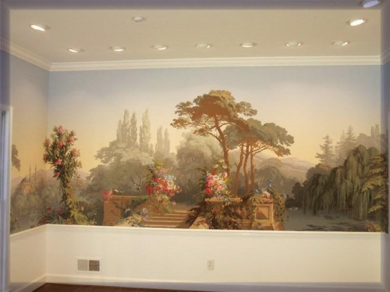 Zuber wallpaper wallpapersafari for Colonial mural wallpaper
