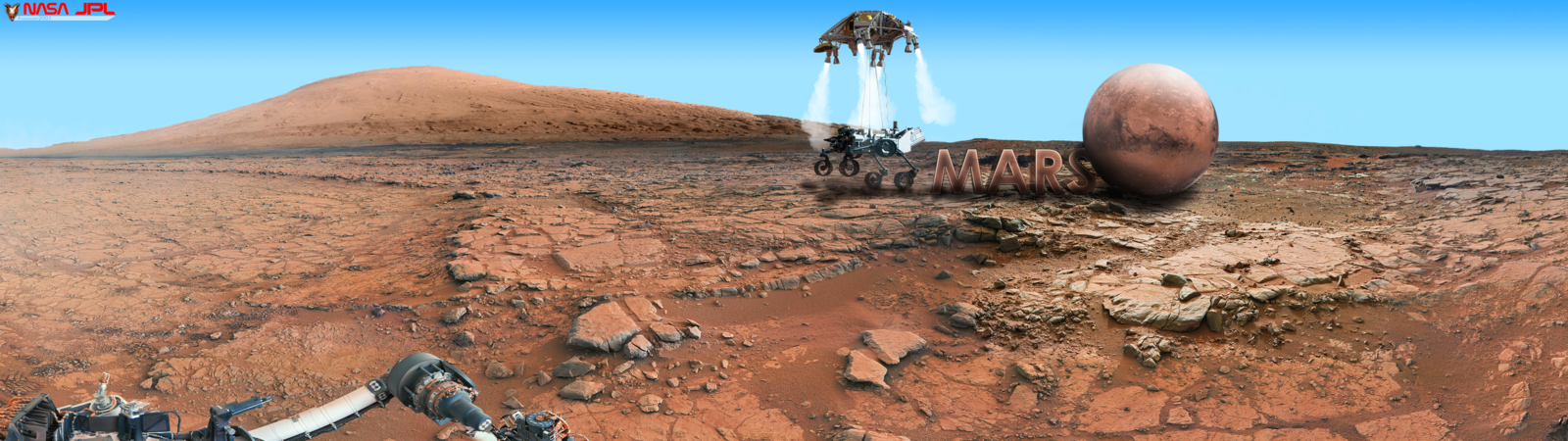 Mars Wallpaper Curiosity Rover Dual Monitor 2 by foxgguy2001 on 1600x450