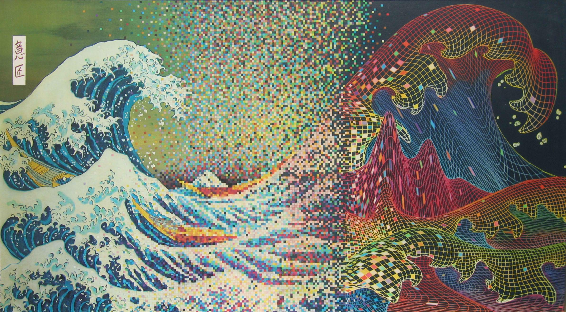 Japanese Wave Wallpaper - WallpaperSafari
