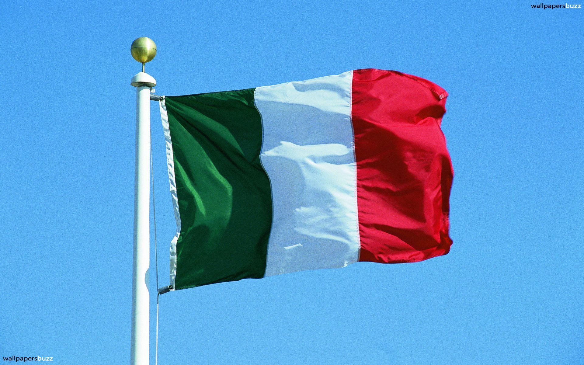 The traditional flag of Italy HD Wallpaper 1920x1200