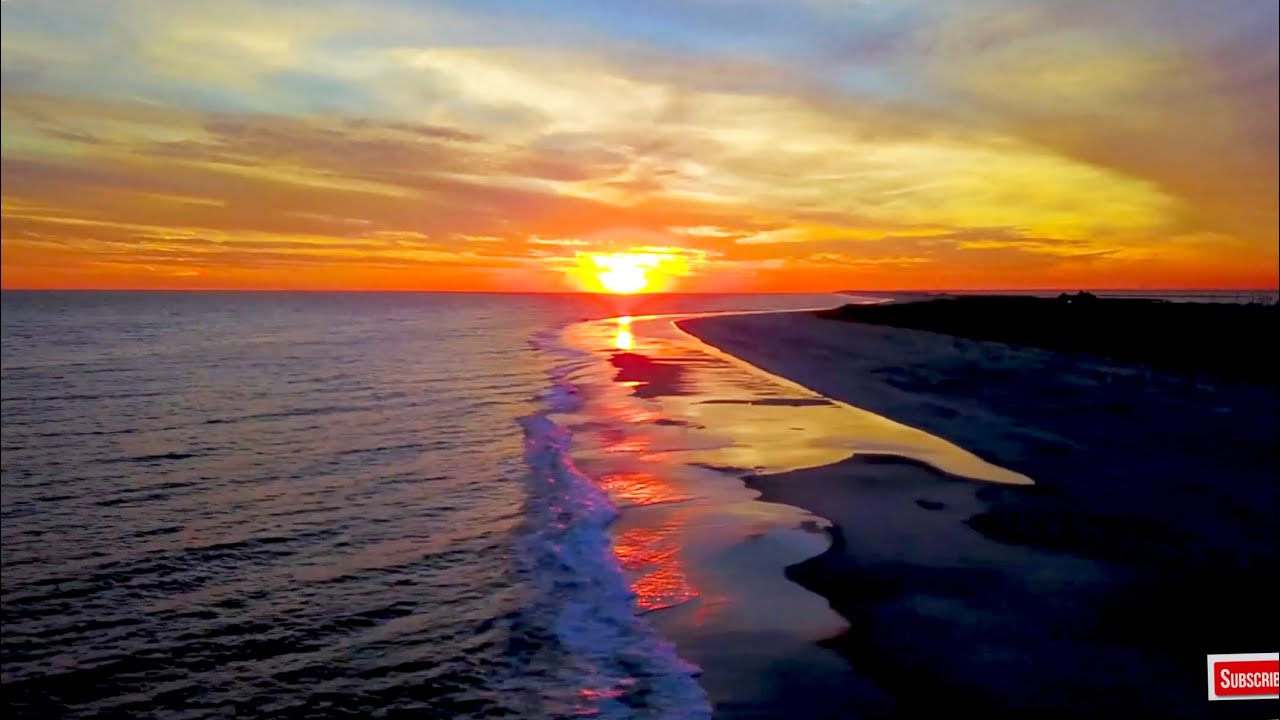 4K Screensaver Ocean Sunset Wallpaper HD New York Aerial Video 1280x720