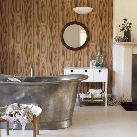 wood and metal effect bathroom a modern and eclectic range of bathroom 550x550