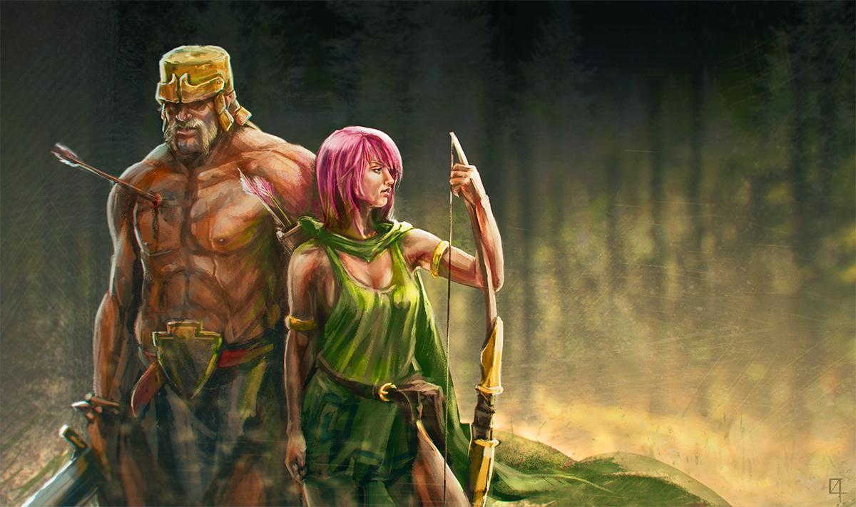 Clash Of Clans Barbarian Wallpaper Wallpapersafari