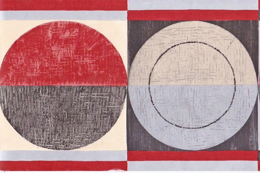 Modern Geometric Circles Red White Black Sale6 Wallpaper Border 872 1080x722