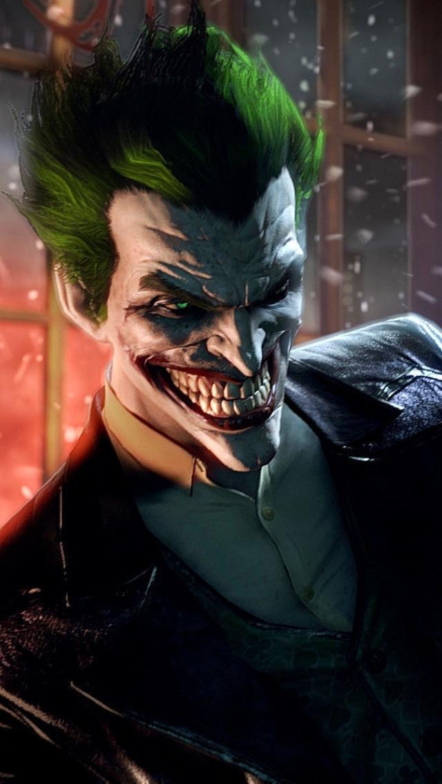 Joker Batman Arkham Origins Wallpaper Batman Arkham Origins Joker 640x1136