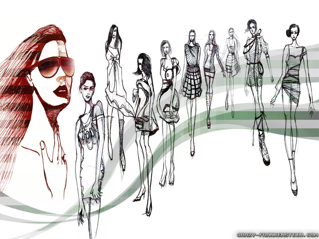 Fashion Sketch Wallpaper Wallpapersafari