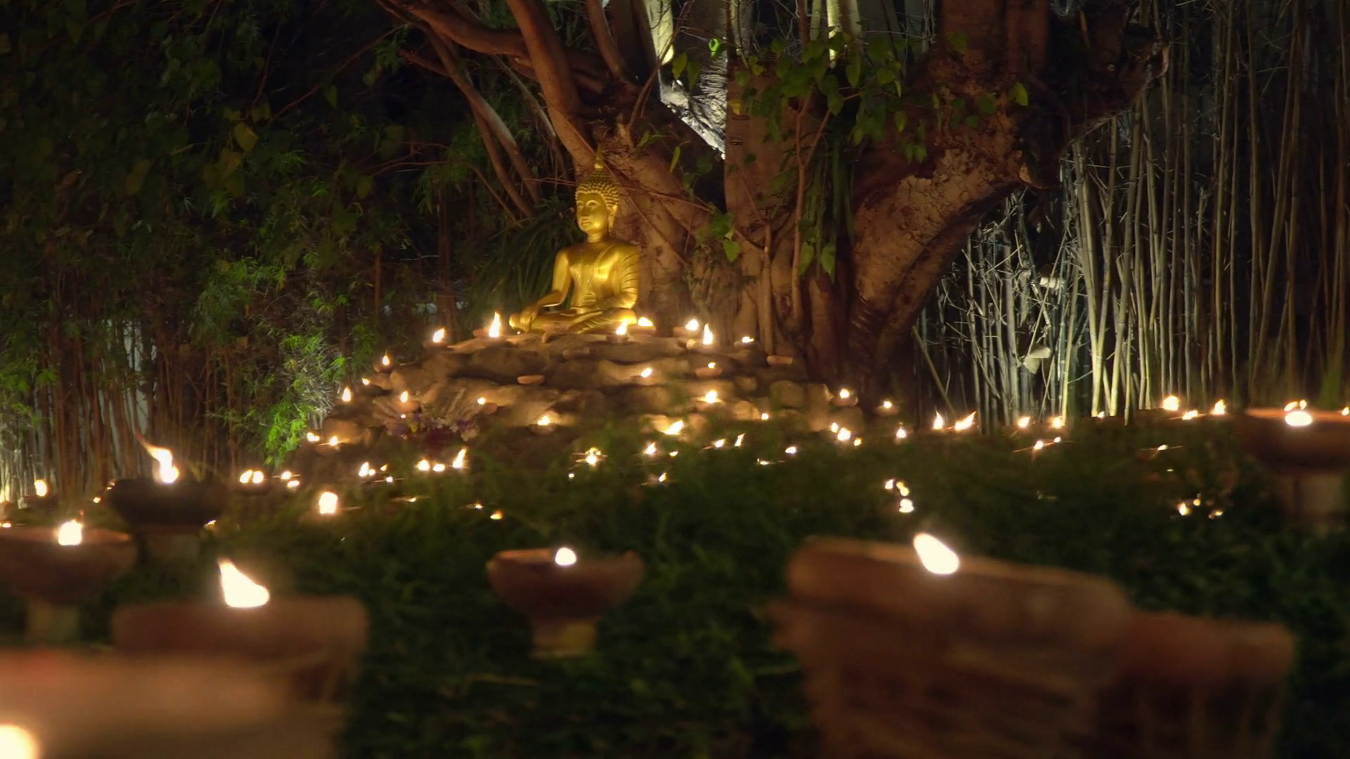 Magha Puja Day Chiang Mai Thailand Stock Video Footage 1920x1080