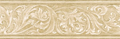 Brewster 418B286 Borders and More Iron worked Scroll Wall Border The 500x163