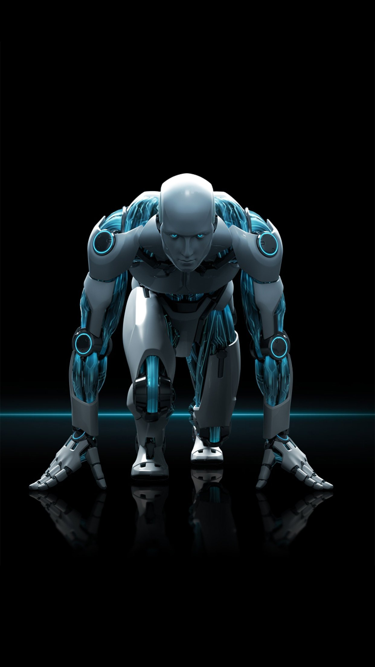 3Wallpapers Best Wallpapers for all iPhone Retina Robot Running 1242x2208