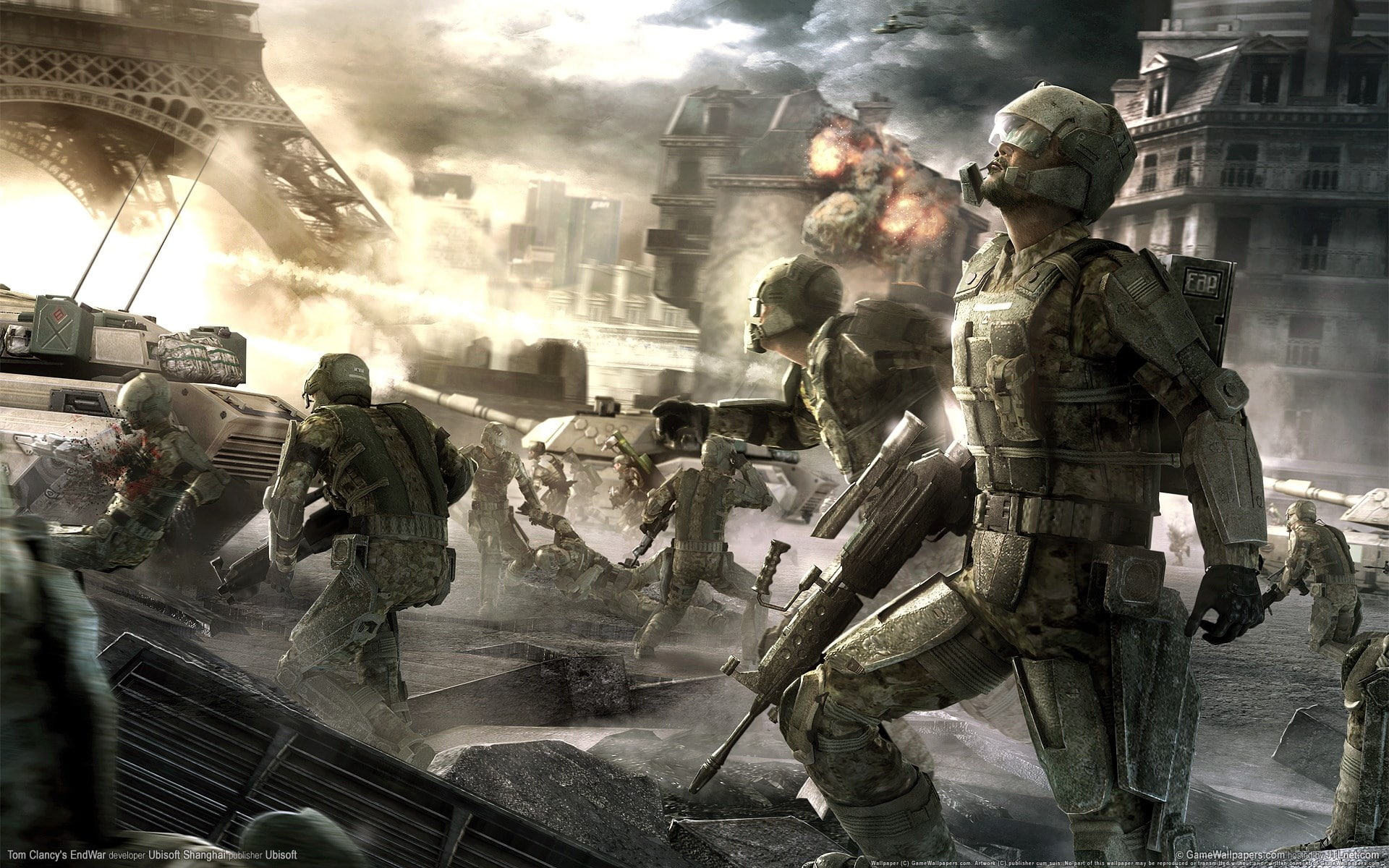 HD wallpaper tom clancys endwar military armed forces group of 1920x1200
