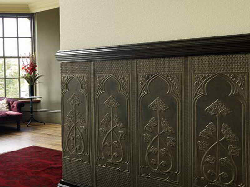 do today Want to wainscot your house with faux wallpaper Wainscoting 800x600