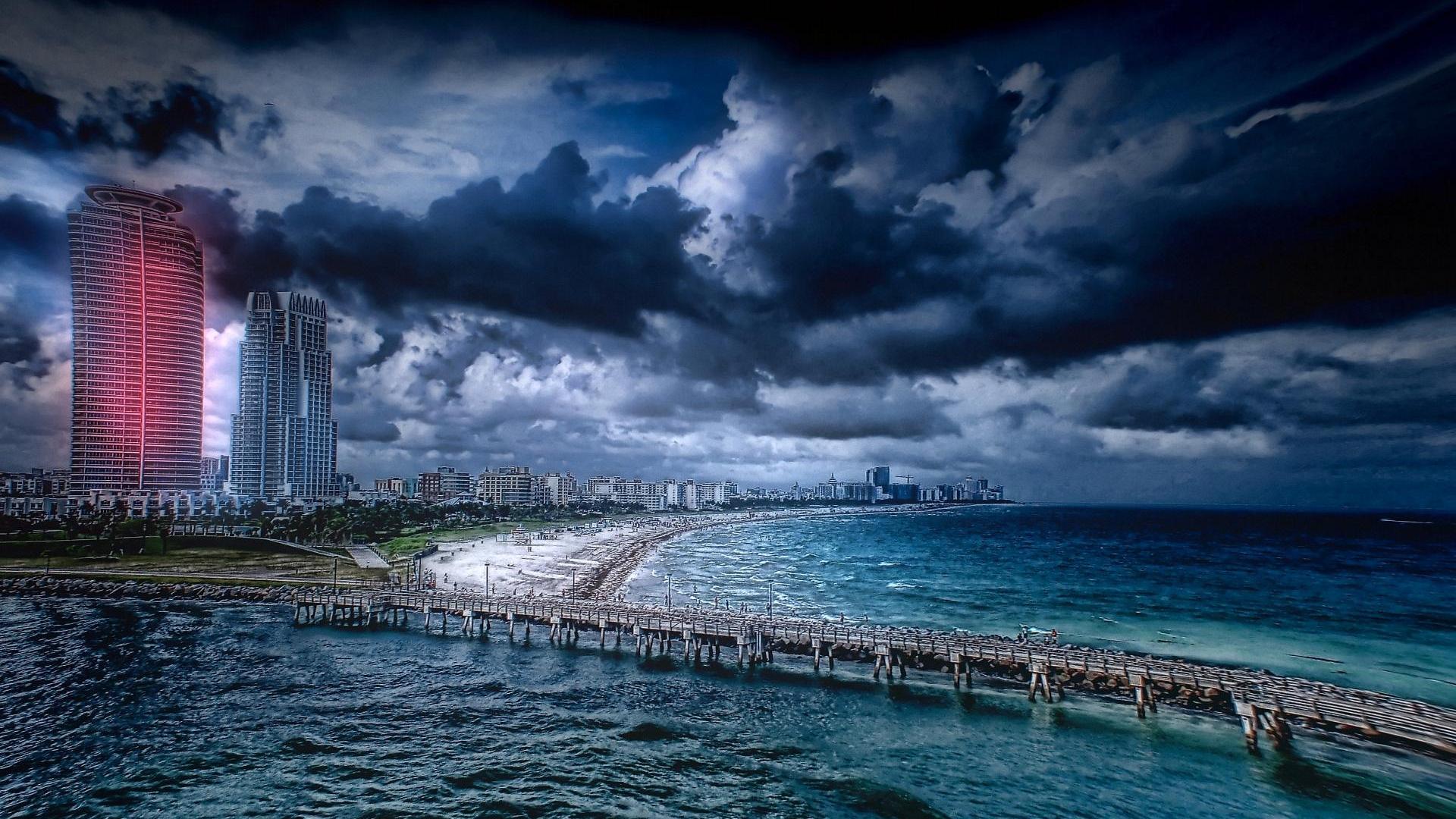 Beach Thunderstorm Wallpaper: Virginia Beach Wallpaper Desktop
