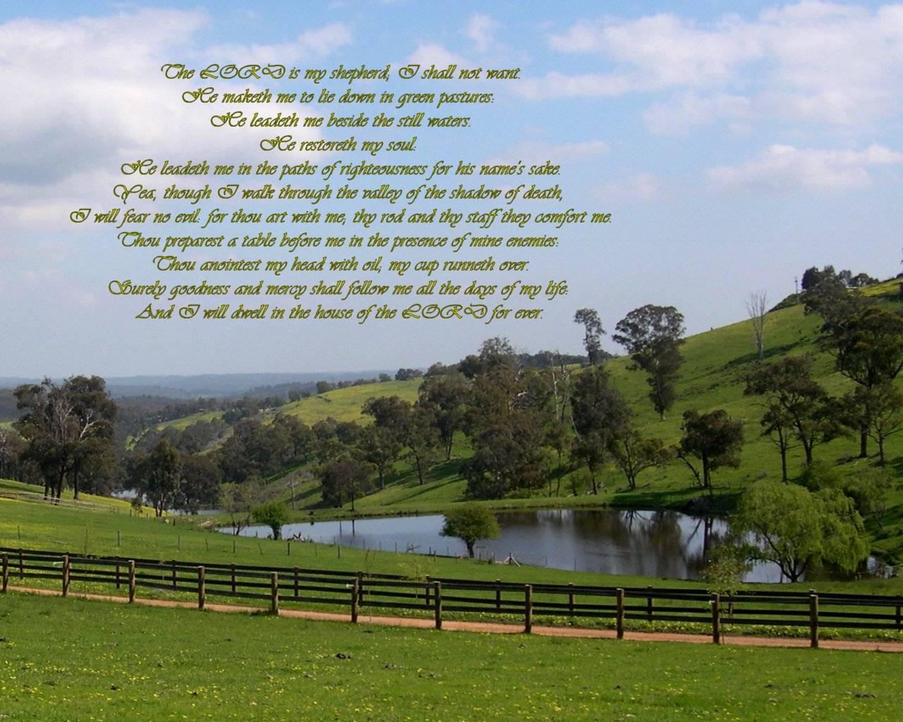 Psalm 23 Wallpaper Psalm 23 Wallpaper 1280x1024