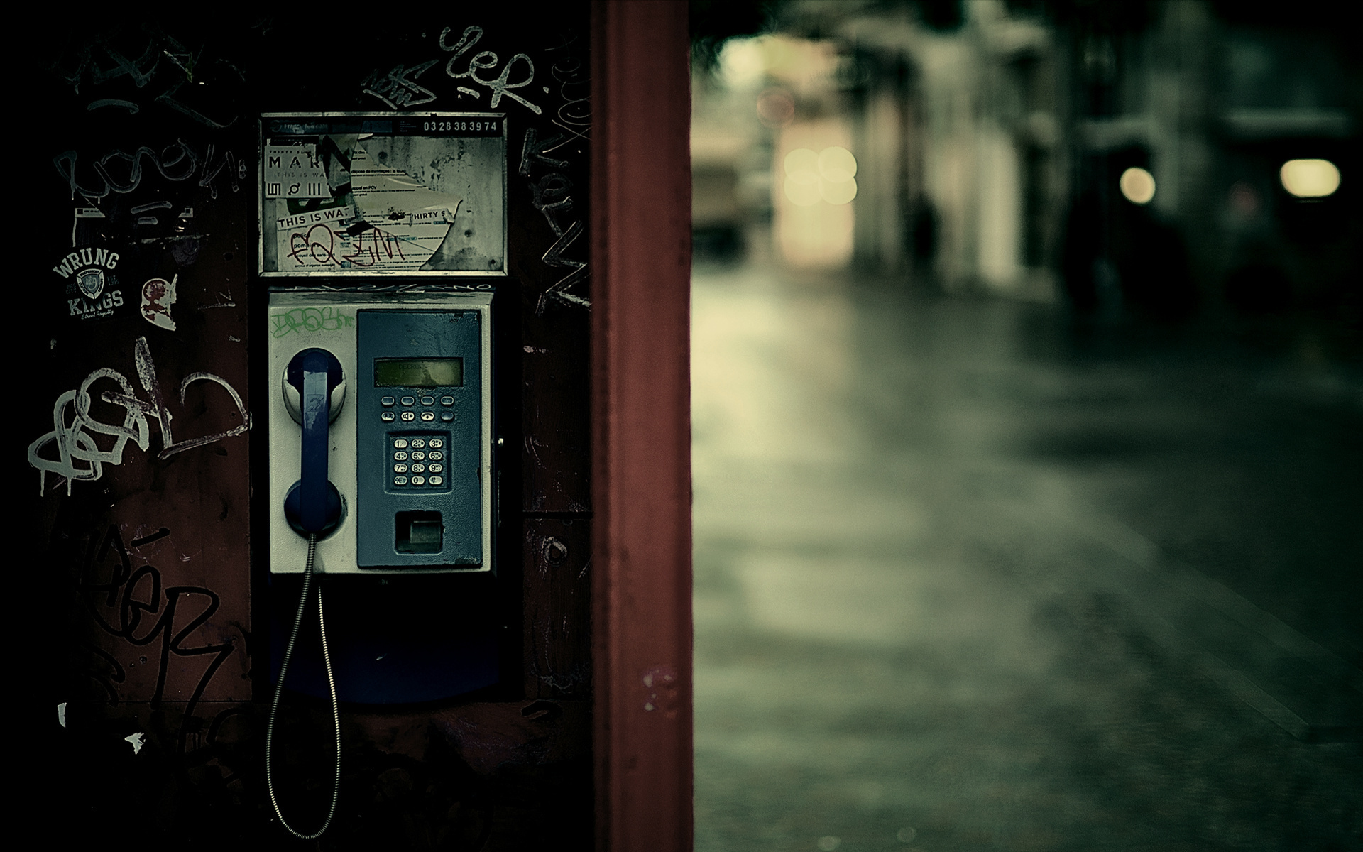 Telephone booth city lights wallpaper   ForWallpapercom 1920x1200