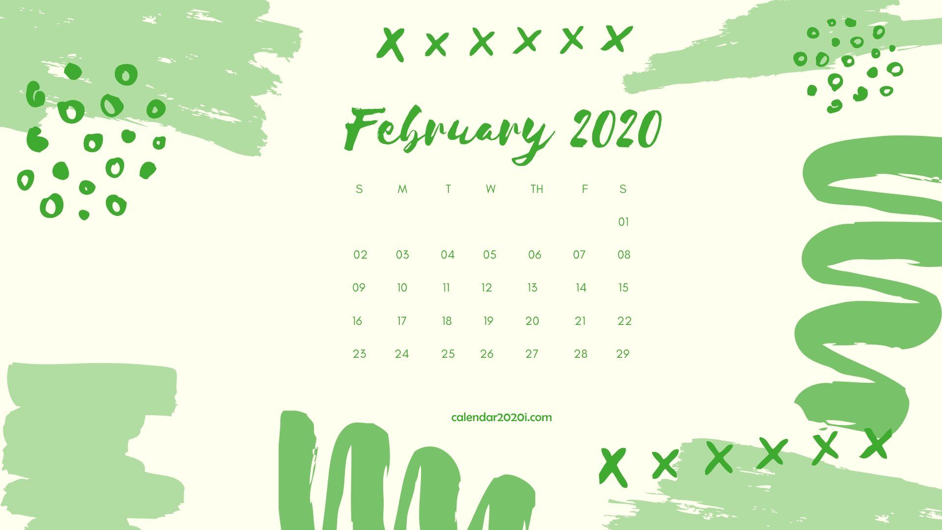 February 2020 Calendar Desktop Wallpaper Printable calendar 1920x1080